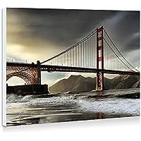 ゴールデンゲートブリッジ、サンフランシスコ、カリフォルニア州、アメリカ - 壁の絵 壁掛け ソファの背景絵画 壁アート写真の装飾画の壁画 - (40cmx30cm)