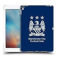 オフィシャルManchester City Man City FC フルホワイト・黒曜石&ブルー クレスト iPad Pro 9.7 (2016) 専用ハードバックケース