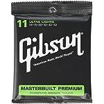 Gibson ギブソン アコースティックギター弦 Masterbuilt Premium ウルトラライトゲージ 011-052 SAG-MB11