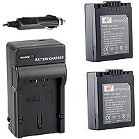DSTE? アクセサリーキット Panasonic CGR-S006E CGA-S006 DMW-BMA7 互換 カメラ バッテリー 2個+充電キット対応機種 DMC-FZ28 DMC-FZ30 DMC-FZ30EGK DMC-FZ30EGS
