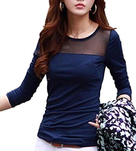 [해외](라루쥬 아루부루) largearbre 니트 T 셔츠 시스루 긴팔 이너 아우터 심플 탑 캐주얼 셔츠 느긋/(L`Arjuel) largearbre Cut and sewn T-shirt See-through Long sleeve inner outerwear Simple tops Casual shirt Loose