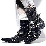 (ラブハンター)LOVE HUNTER ポインテッドピラミッドショートブーツBLK(ブラック) 44(27.0-27.5cm) BLK(ブラック)