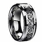 ZAKAKA 指輪 メンズ ステンレス セットチタンリングメンズ チタン指輪 平打ち 14号 16号 18号 21号 23号を提供する (16)