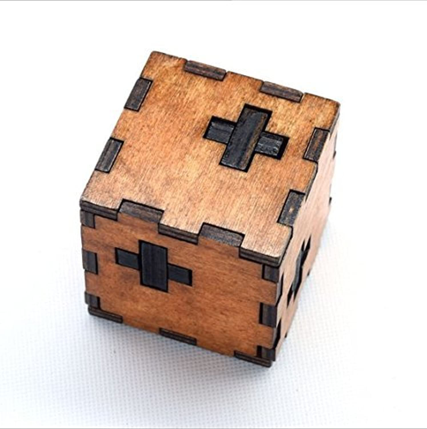 URToys Kids Toys Swiss Cube A Wooden Blocks Toys Of 3d Puzzle Also For Adult Kong Ming Lock A Good Gift From Ancient Wise Men For You Familys