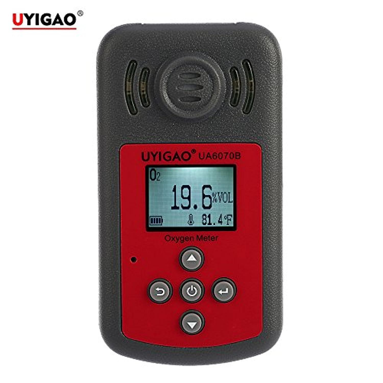 UYIGAO ガス検出器 O2濃度計 酸素計 ハンドヘルドポータブル酸素計 O2ガス検出器 LCDディスプレイ/音と光のアラーム付き