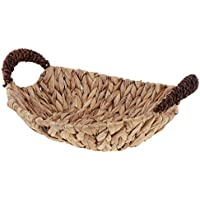 Baosity 籐製 織物 収納バスケット オーガナイザー ボックス 全3種 - 楕円形