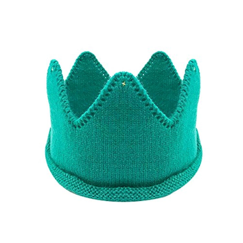 Wrapables 男児&女児用 誕生日パーティーニットクラウンヘッドバンド ビーニーキャップ帽子