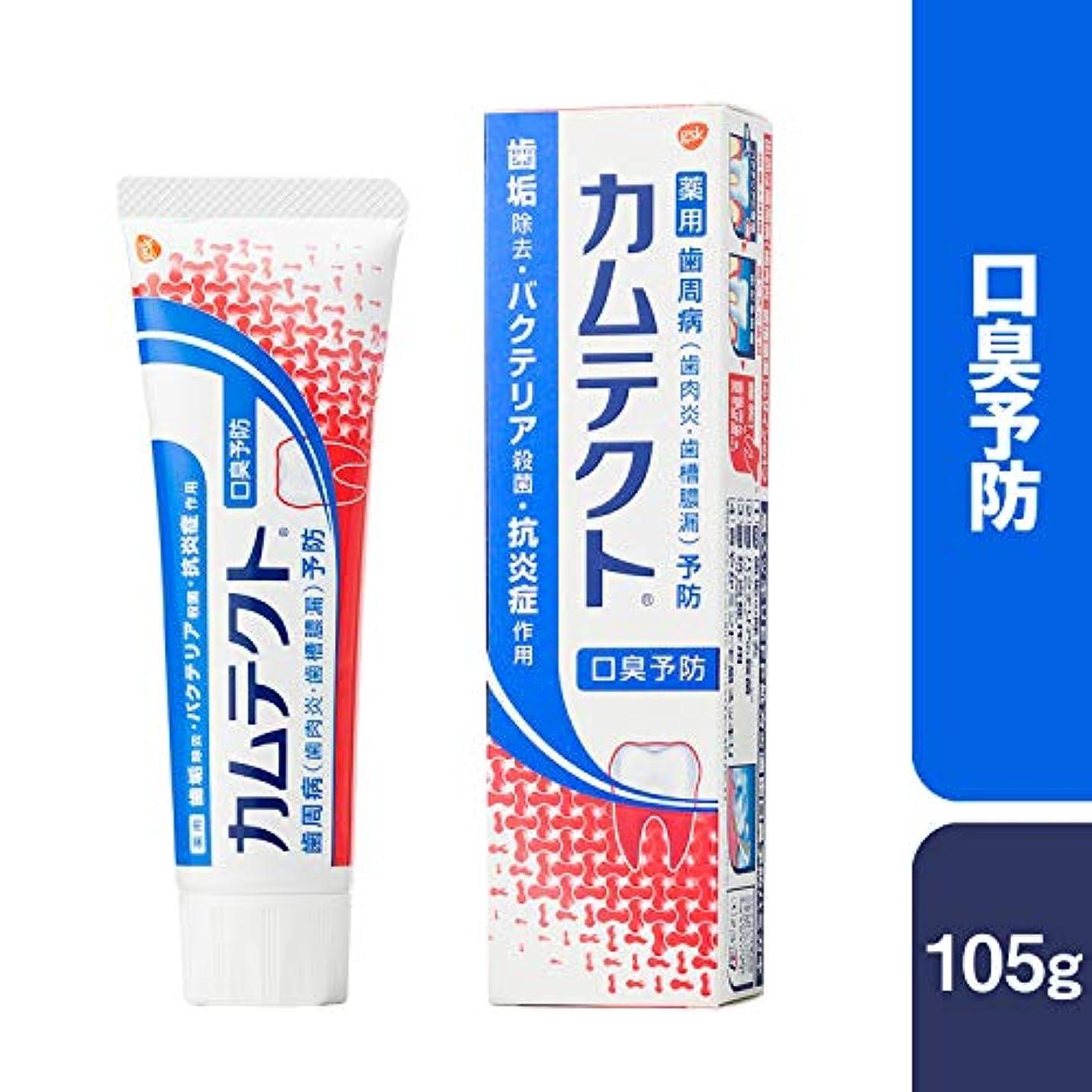 帽子乳白乳剤[医薬部外品]カムテクト 口臭予防 歯周病(歯肉炎?歯槽膿漏) 予防 歯みがき粉 105g
