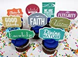 LDS Mormon Young Women Themed Party Cupcake Topper Set Featuring Young Women's Values [並行輸入品]