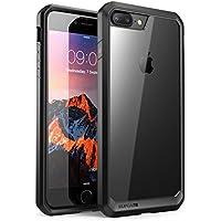 SUPCASE iPhone8 Plus ケース/iPhone7 Plus ケース 米軍MIL規格取得 耐衝撃 Unicorn Beetle シリーズ 透明/黒い