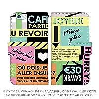 iPhone XS Max 手帳型 ケース [デザイン:5.パステル系/マグネットハンドあり] ユーロカフェ アイフォン アイホン XSマックス iPhoneXSMAX スマホ カバー