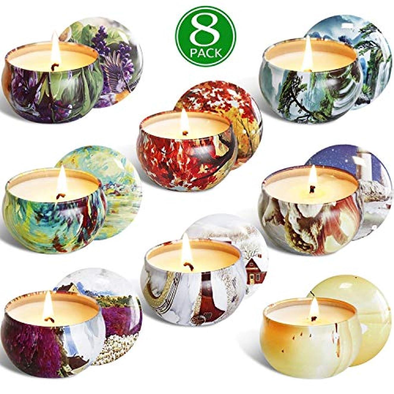 目覚める増幅楽観処置 8本ソイワックス香りのキャンドル香りのキャンドル