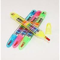 uofeivsカラフルクレヨンRainbow GlitterクレヨンTwistableクレヨンfor Kidsギフト、図面、学習、アートクラス装置、4シェル色
