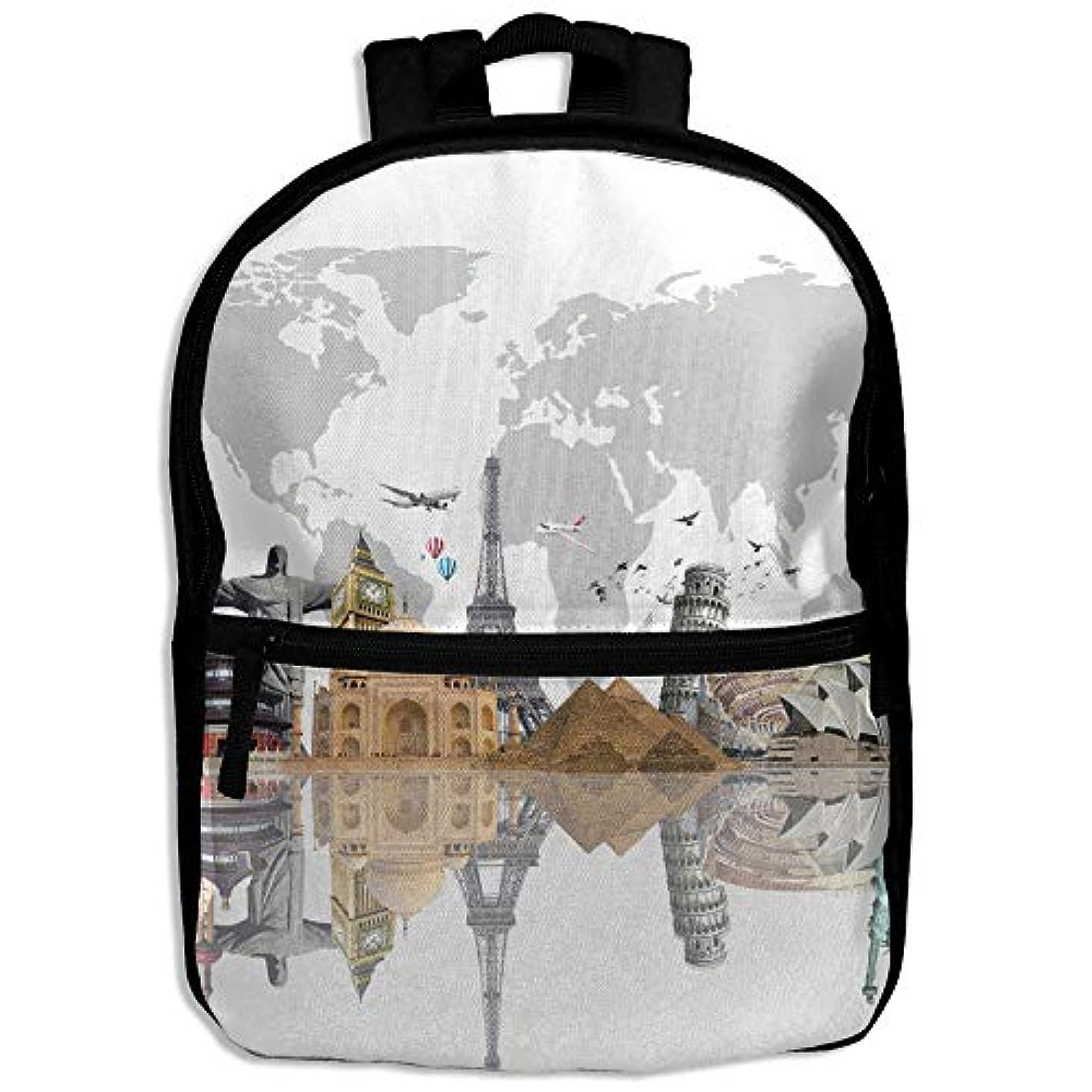 対抗責め貫入キッズバッグ キッズ リュックサック バックパック 子供用のバッグ 学生 リュックサック 世界地図 アウトドア 通学 ハイキング 遠足