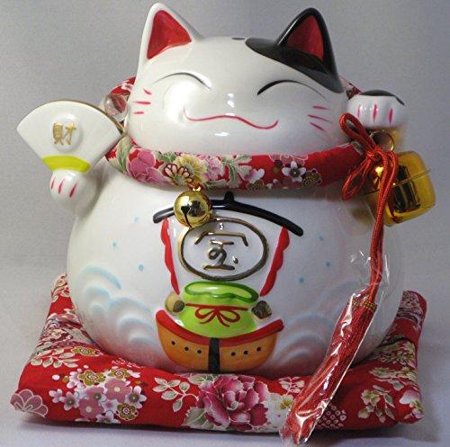 宝船 招き猫 貯金箱 特大(8寸) 【並行輸入品】(ノーブランド品)