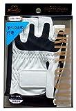 Lezax(レザックス) ドライブグローブ 半指合皮メッシュ すべり止め付き ホワイト LZGL-5952-WH