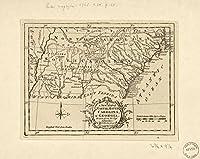 ヴィンテージ1765マップのの新しいマップのNorth & South Carolina、& Georgiaジョージア、ノースカロライナ州、サウスカロライナ州、南州、アメリカ合衆国