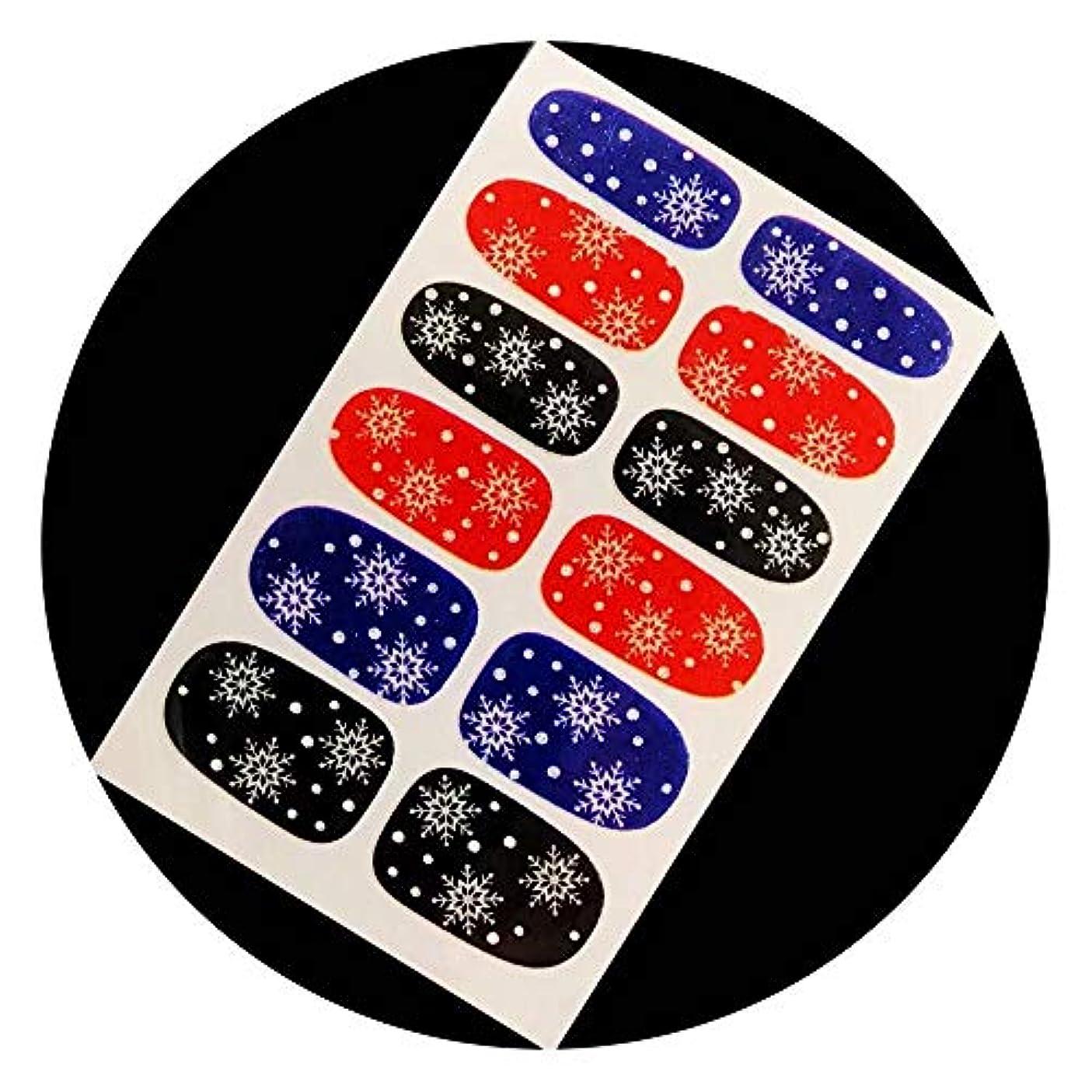 盲信フック破壊的ネイルシール ネイルラップ ネイルアート 貼るだけ マニキュア 12ピース (雪 541)