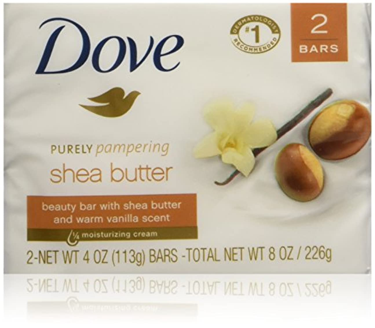 そして平行国籍Dove Nourishing Care Shea Butter Moisturizing Cream Beauty Bar 2-Count 120 g Soap by Dove