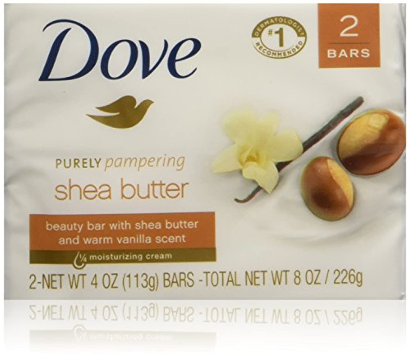 Dove Nourishing Care Shea Butter Moisturizing Cream Beauty Bar 2-Count 120 g Soap by Dove