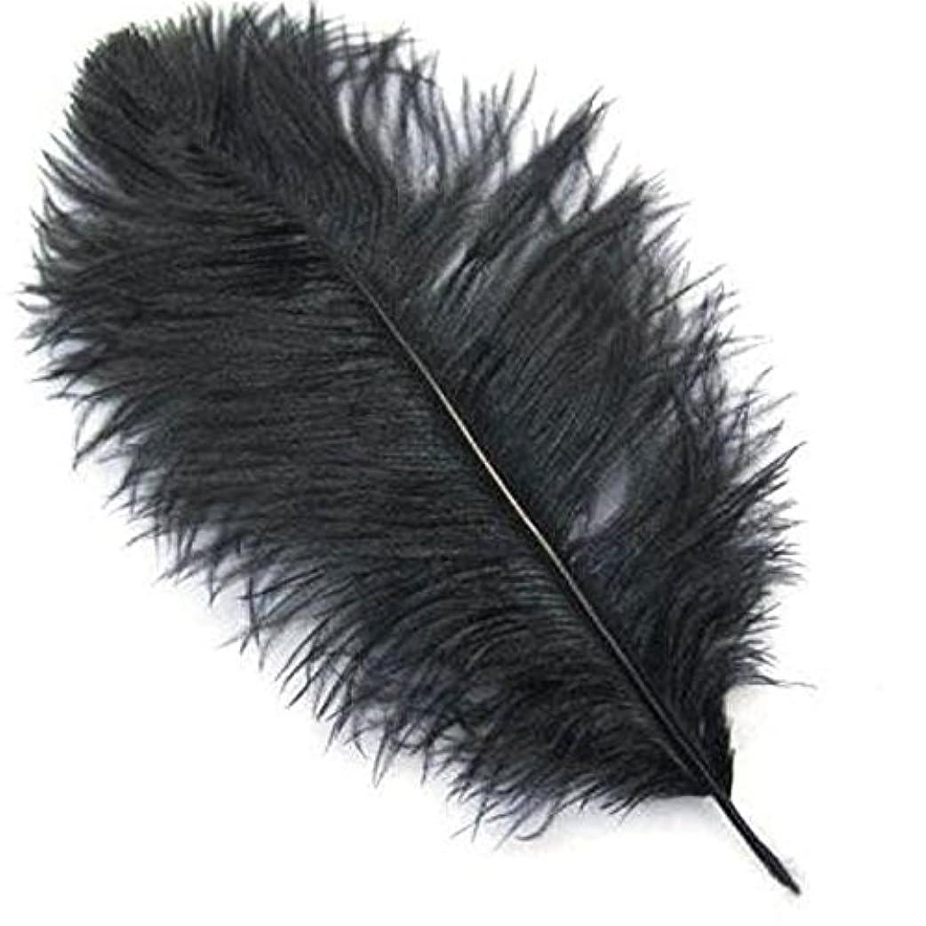事実上月バイナリSODIAL オーストリッチフェザー--創造的な美しいナチュラルダチョウの羽の装飾 一キットで10件 黒