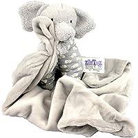 小柄Gray Elephant Cuddle Buddy – Plush Baby / InfantセキュリティブランケットSnoot 'は7