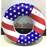 浮き輪 直径78cm アメリカ国旗 大きな 大人用浮き輪 プール フロート 海