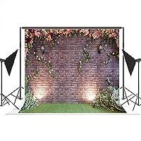 レンガ壁の写真の背景草原の芝生ライト布フォトスタジオ背景Prop Non Wrinkle写真ブース