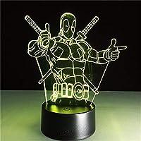 Dtcrzj Ai3D Ledテーブルランプ新しいスーパーヒーロー7色視覚錯覚Ledライト友達パーティーギフト