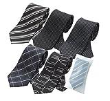 ビジネスマンサポート 洗えるネクタイ 5本セット 洗濯ネット付き h-e1e3f1f2f3