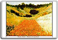 Claude Monet - Poppy Field In A Hollow Near Giverny (1885) classic art fridge magnet - ?????????