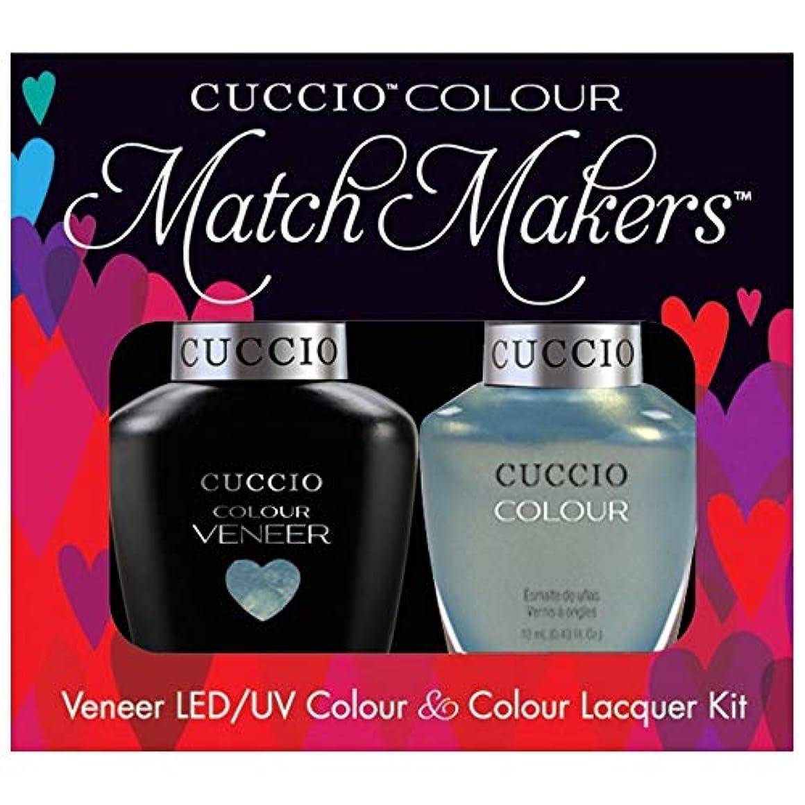 午後絡み合い欲求不満Cuccio MatchMakers Veneer & Lacquer - Shore Thing - 0.43oz / 13ml Each