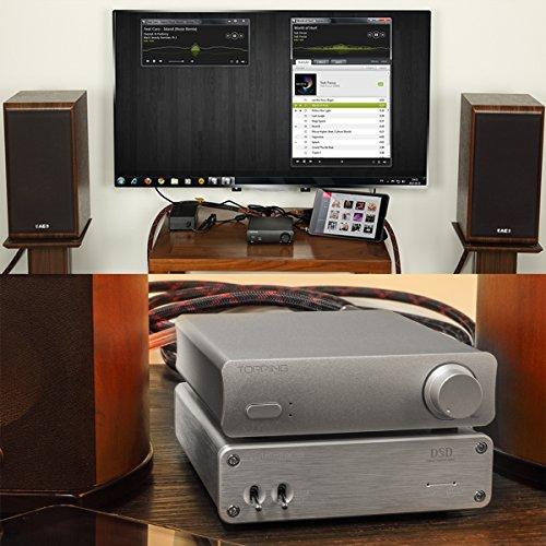 Topping PA3 デスクトップデジタルアンプ 新型コンパクトアンプ TDA7498E採用 低音強化 HIFI音質 音質改善 パワーアップ パソコンテレビ携帯対応 高音質 重低音 日本語取扱説明書付 シルバー・ブラック (シルバー)