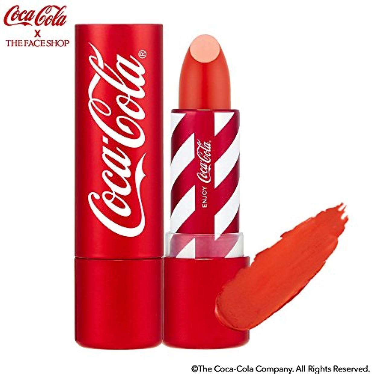 誰か抵抗力があるコンバーチブル[ザ?フェイスショップ] THE FACE SHOP [コカ?コーラ リップスティック 3.5g 限定版] (Coca Cola Lipstick 3.5g Limited Edition) [海外直送品] (03. アイス...