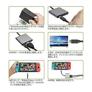 KetenTech Nintendo Switch専用 TYPE-C TO HDMI変換アダプター 映像変換 4K解像度 USB3.0ハブ PD充電 Macbook Chromebook適用 ニンテンドースイッチドックの代わり ウルトラスリム 超軽量