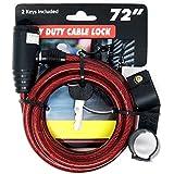 4SGM ケーブルロック 鍵2本付き 高耐久 詰め合わせ 長さ72インチ