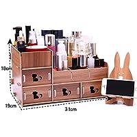 WTL かご?バスケット 木製化粧品収納ボックス破片仕上げボックス (色 : B, サイズ さいず : 31*19*18cm)