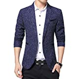 Mirroryou ジャケット メンズ ビジネス 1つボタン 西洋式 サマージャケット ブレザー  おしゃれ テーラードジャケット スーツ生地 ファッション ドレッシー カジュアル 長袖 礼服 大きいサイズまで対応する