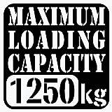 【w-018-1250】【1】【黒】【10cm x 10cm】最大積載量1250kg 英語表記ステンシルカッティングステッカー