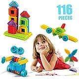 ニューバランス 人気 AsToy 新感覚のブロック おもちゃ 116pcs スターターセット 子供 3歳から 図形 知育玩具 型はめ ニューブロック パズル 立体パズル