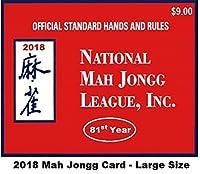 National Mah Jongg League 2018 Large Size Scorecard [並行輸入品]