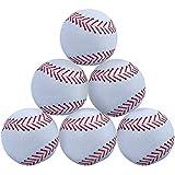 WOWMAX Toy 野球用ぬいぐるみ ふわふわ スポーツボール 柔らか 丈夫 スポーツおもちゃ ギフト 子供用 3インチ ホワイト 6個セット