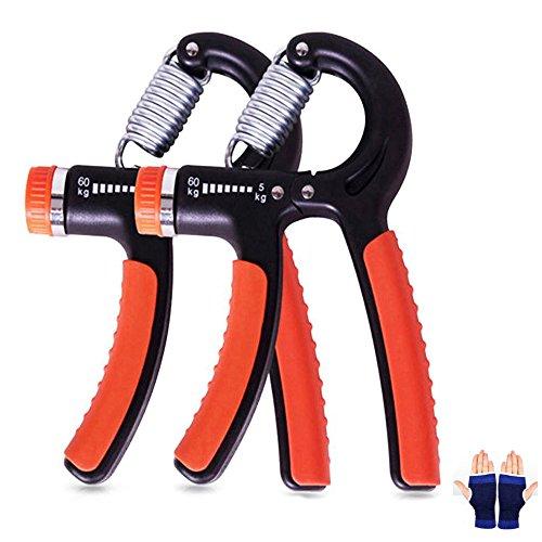 Cookie Talk ハンドグリップ 握力器 筋トレ トレーニング グリップ 握る器具 リハビリ器具 男女兼用 5-60kg オレンジ 2個セット