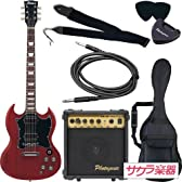 Maison メイソン エレキギター SGタイプ サクラ楽器オリジナル SG-28/CH 初心者入門7点セット