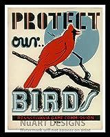 """フレーム付きヴィンテージスタイルWorks進捗管理複製ポスター」保護当社の鳥–Pennsylvaniaゲーム委員会"""" ;ポスターサイズ12x 18。"""