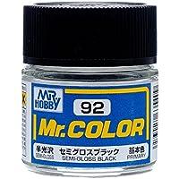 【溶剤系アクリル樹脂塗料】 Mr.カラー C92 セミグロスブラック