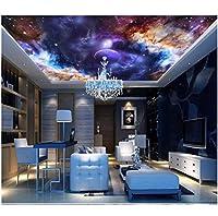 Wuyyii 3 D壁紙カスタム写真壁画カラフルな星空宇宙リビングルームの天井壁画3D壁壁画壁紙壁3 D