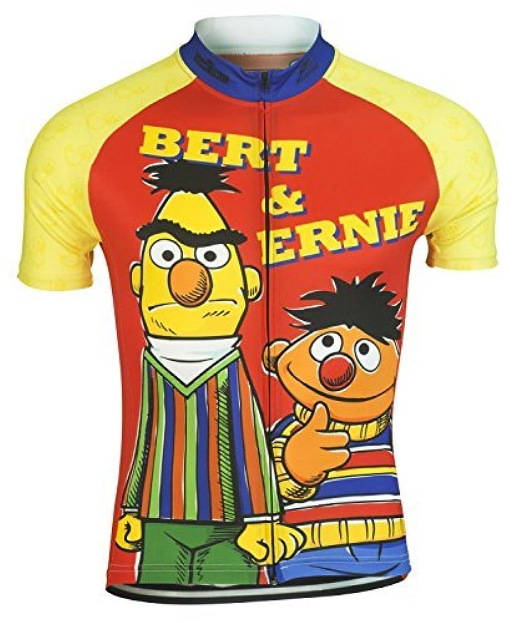 くるくるセクション測定可能Bert and Ernie Muppets Sesame Street Cycling Jersey by Brainstorm Gear Men's 3XL Short Sleeve [並行輸入品]