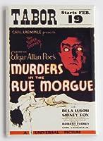 Murders in the Rue モーグ映画ポスター 冷蔵庫マグネット (2.5 x 3.5インチ)
