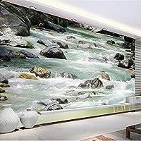 Hanhantang 自然な風景の床の壁紙カスタムPvc耐摩耗性の壁紙浴室の床の背景の壁紙-250X175Cm